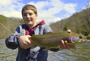Rainbow Trout on the Tuckasegee River, Fly Fishing the Smokies