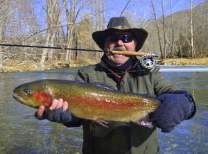 Fly Fishing For Rainbows in Smoky Mountains, Fly Fishing Guides Pigeon Forge Gatlingburg Sevierville Tennessee, Best Fishing Guides in Tennessee,