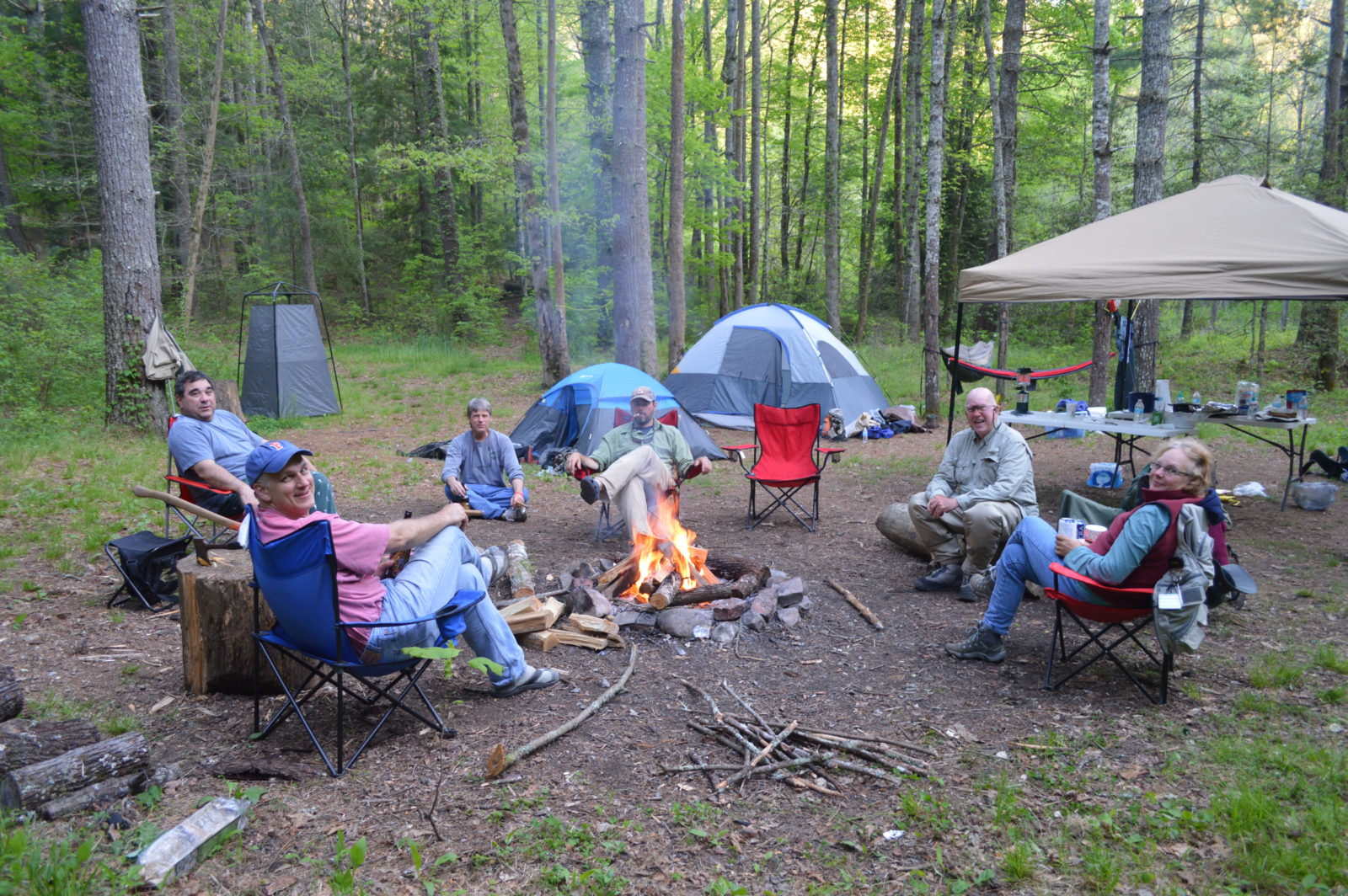 Hazel creek camping trip with fly fishing the smokies for Campsites with fishing