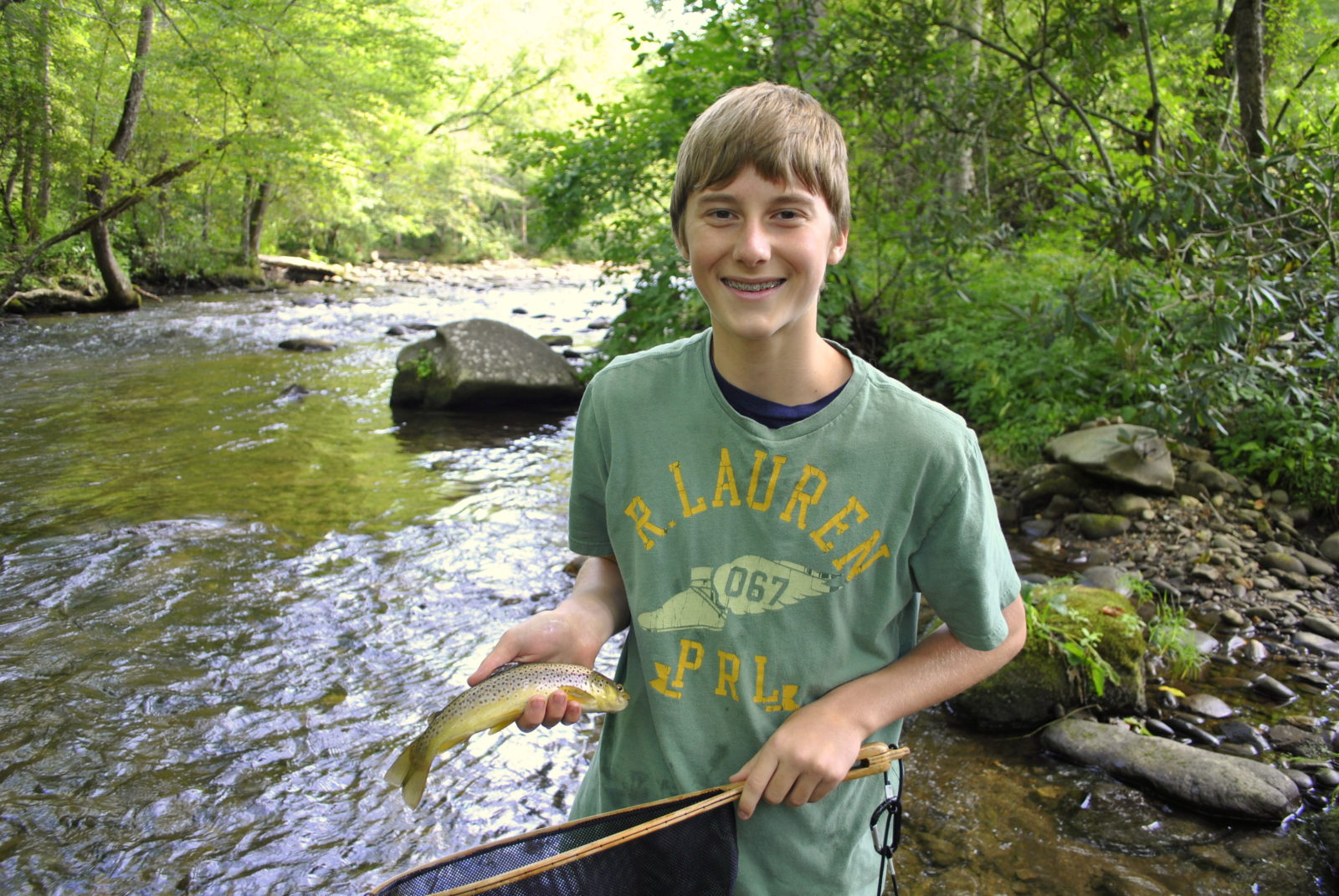 Fly fishing guides great smoky mountains maggie valley for Smoky mountain trout fishing