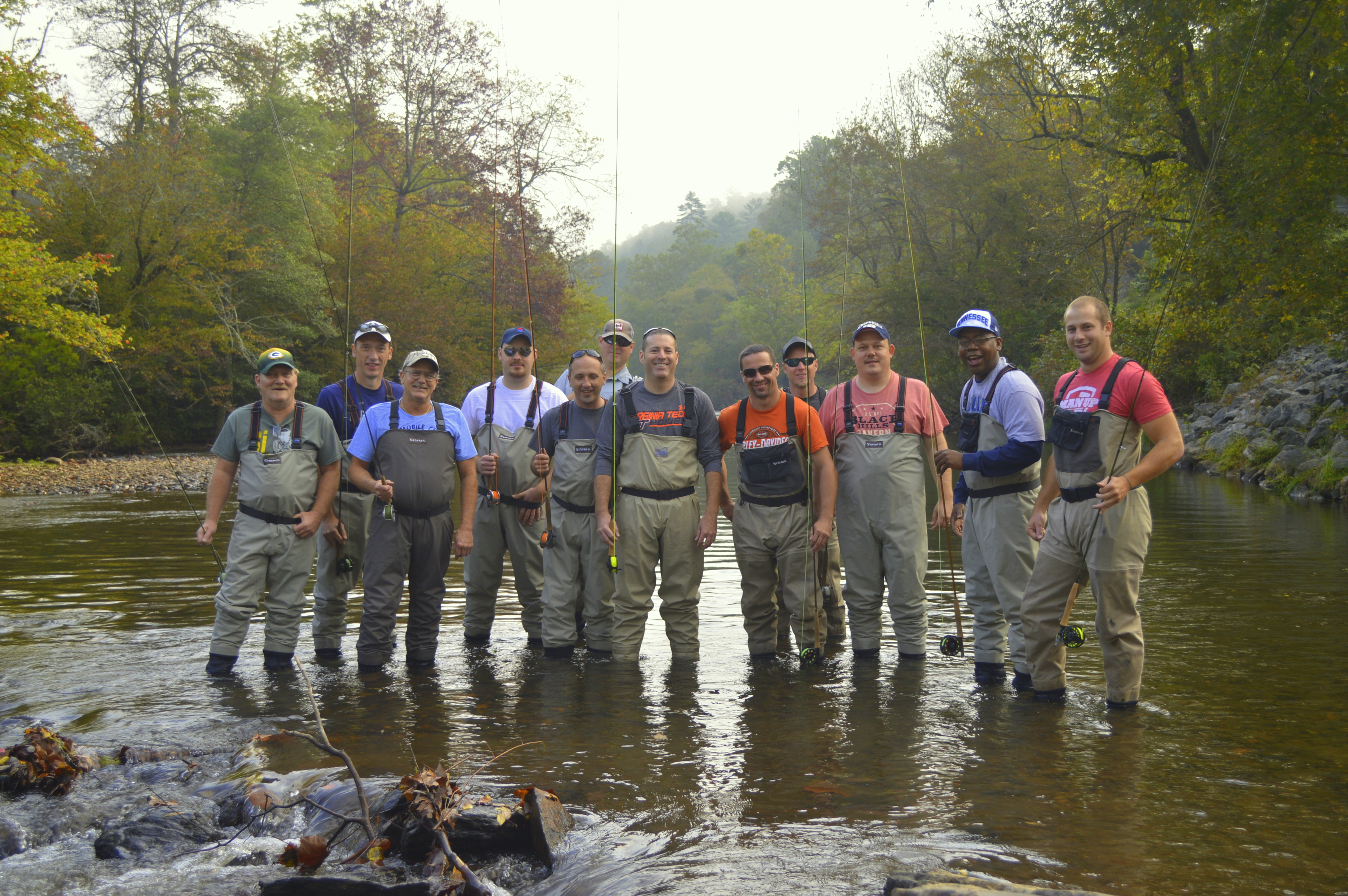 Corporate and group fly fishing in the great smoky mountains for Smoky mountain fly fishing
