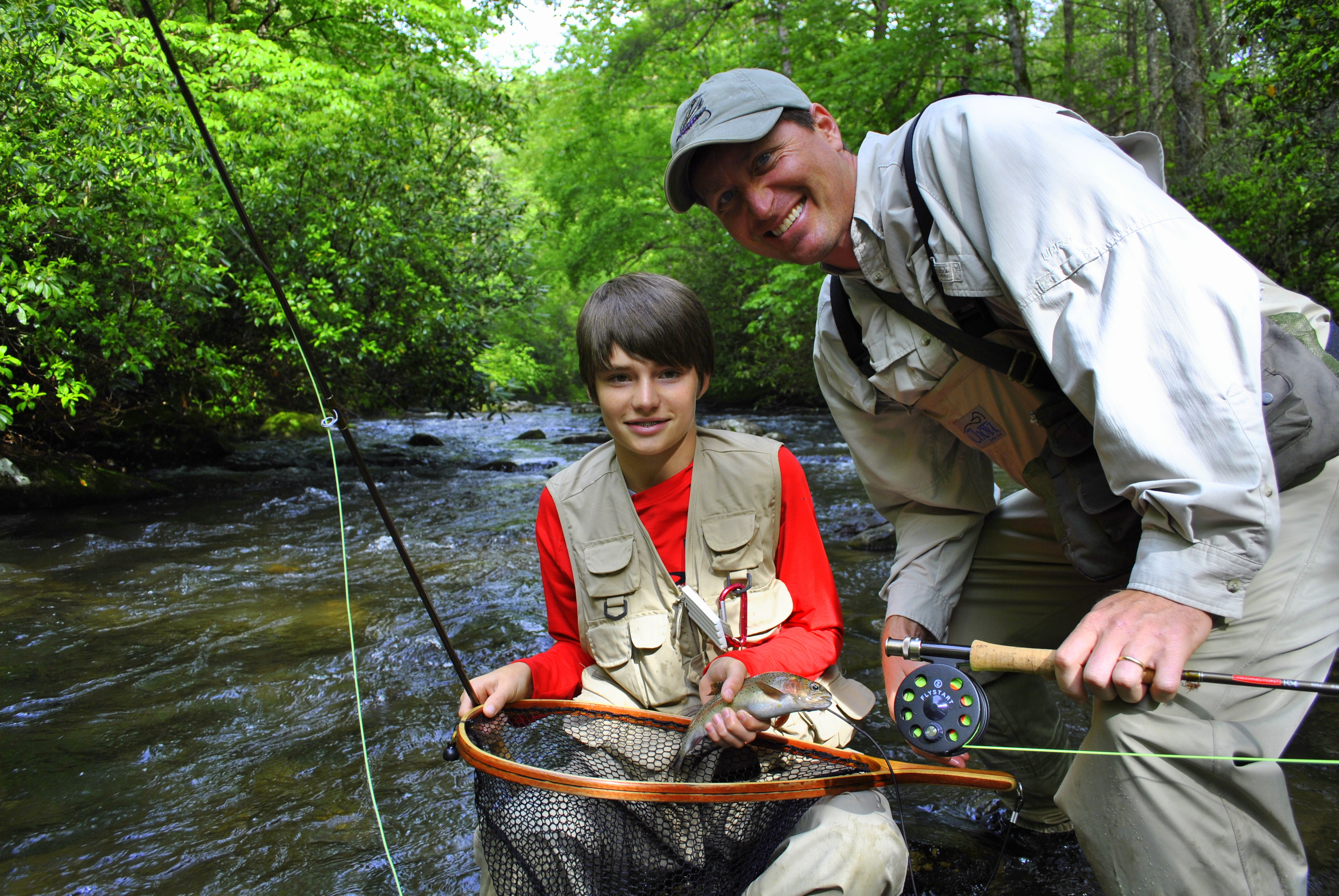 Maggie valley fly fishing guides guided fly fishing trips for Fishing in gatlinburg tn