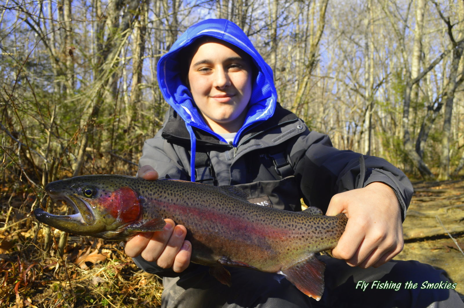 Trophy trout winter fly fishing in the gatlinburg smoky for Lifetime hunting and fishing license tn