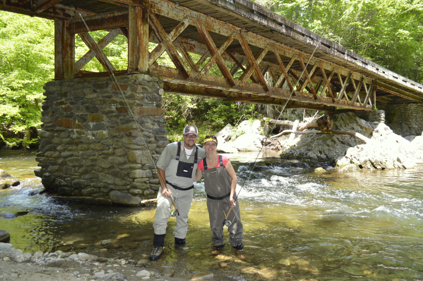 Summer fly fishing in the smoky mountains for Fishing in gatlinburg tn