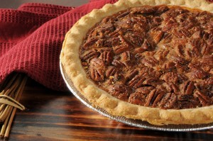 Entire-pecan-pie-with-a-golden-crust