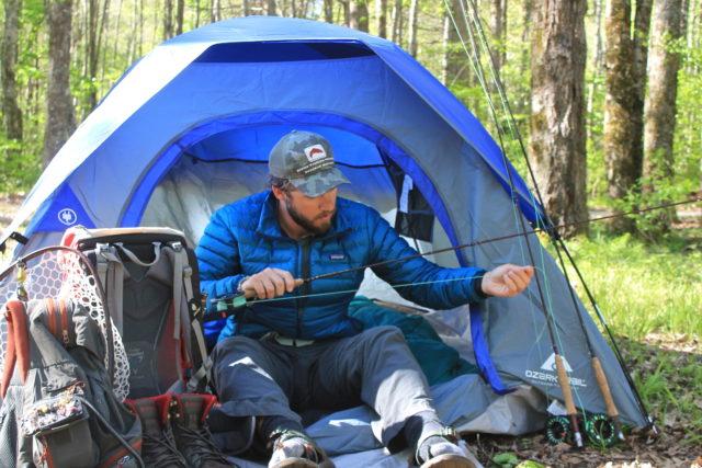 Smokies backcountry trip guided fly fishing and camping for Backcountry fly fishing
